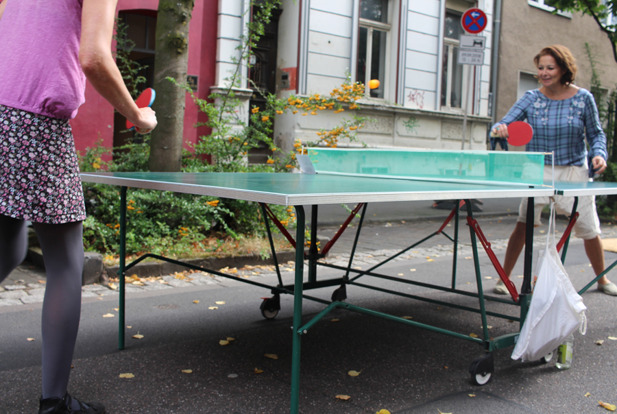 Nachbarschaftsfest in der Zehntstraße/Ecke Holweider Straße