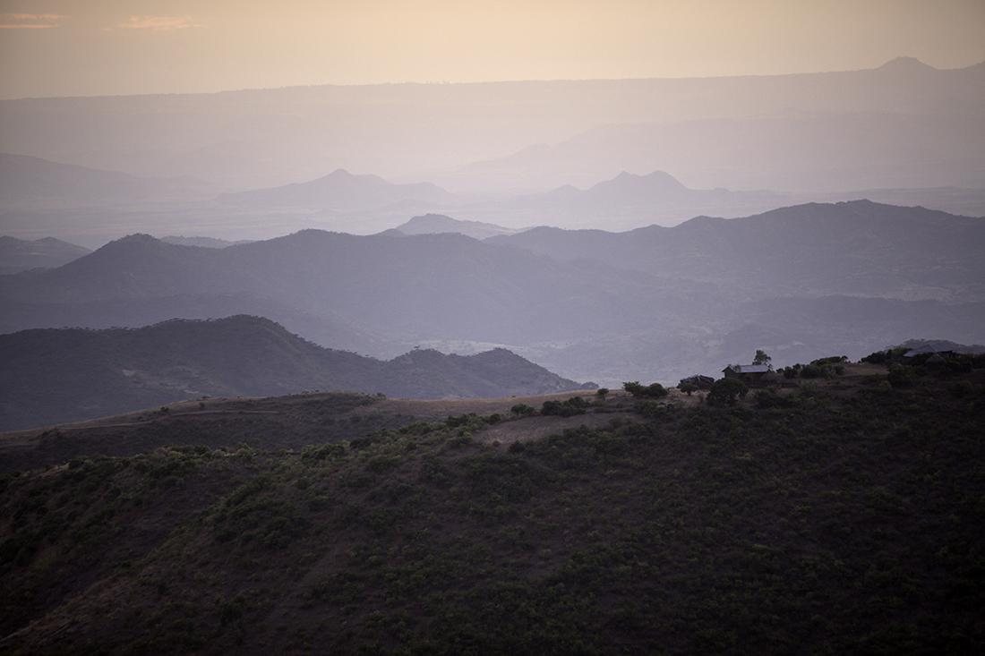 Landschaft bei Lalibela