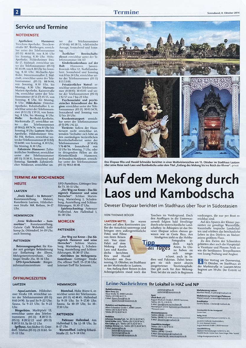 HAZ Laos-Kambodscha Stadthaus Laatzen
