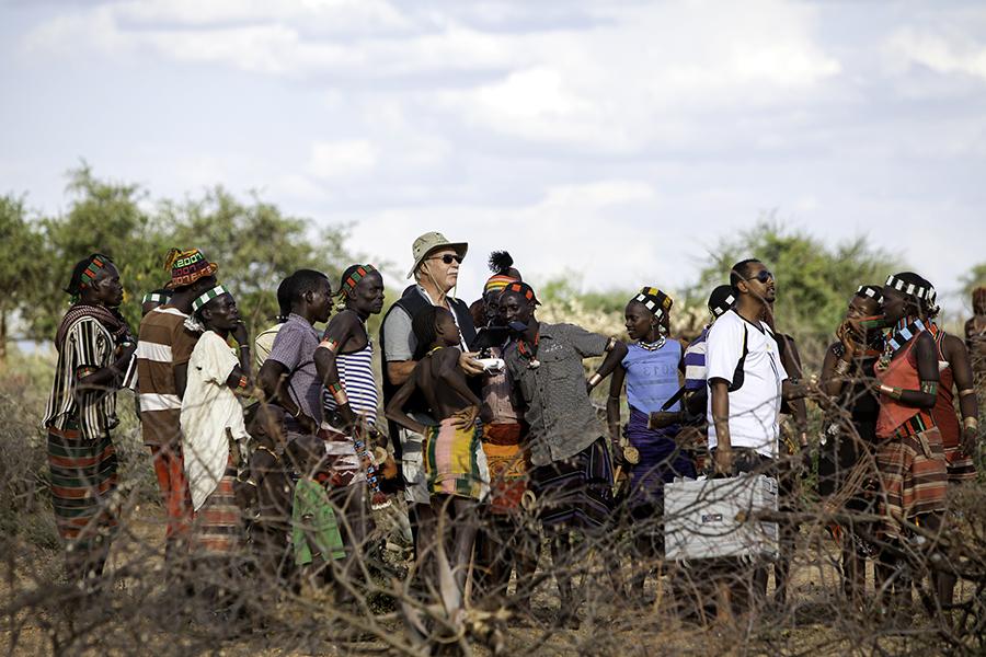Harald Schneider mit dem Kopter in Äthiopien