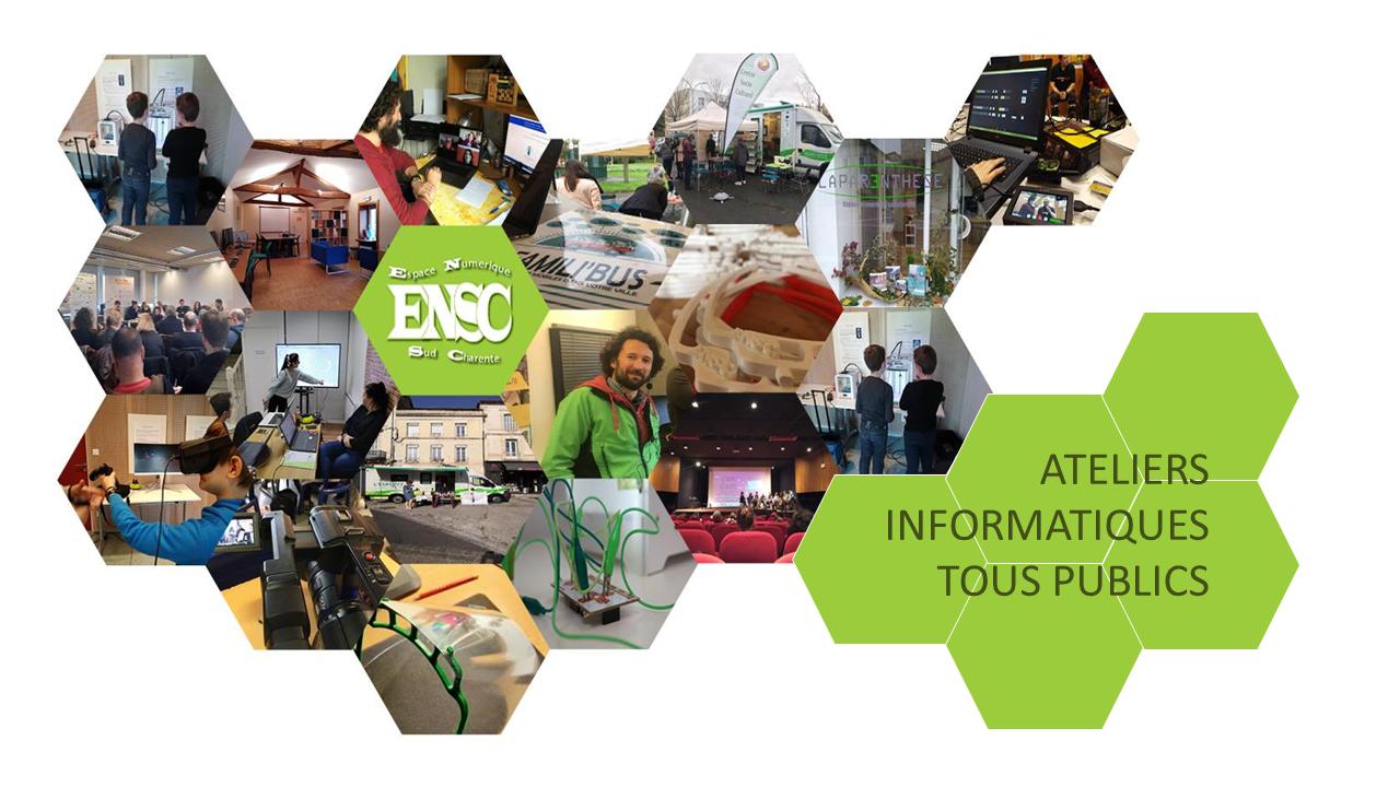 ENSC : Ateliers informatiques tous publics