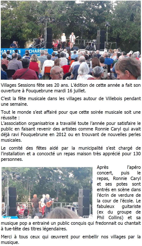 Village session 2019