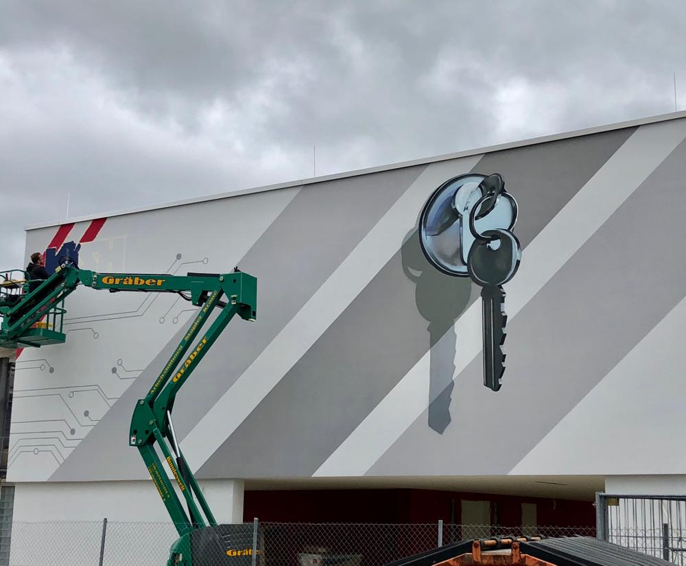 Graffiti Fassadenmalerei in Konstanz