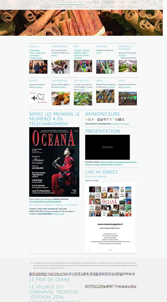 SITE INTERNET, Magazine Oceana