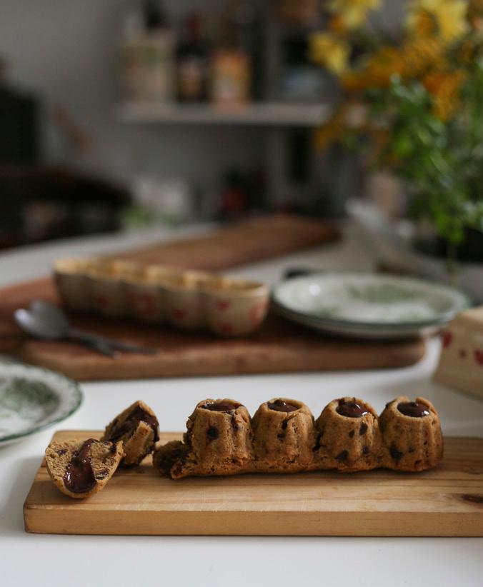 Minikoug cookie et coeur coulant chocolat