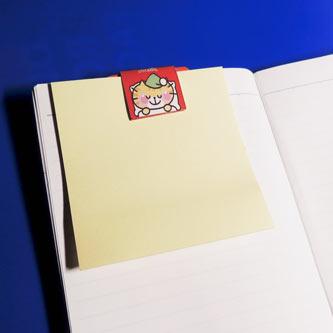 メモ用紙を持ち歩く。 ノートや手帳にクリップして、メモ用紙や付箋メモ用紙を持ち歩く。