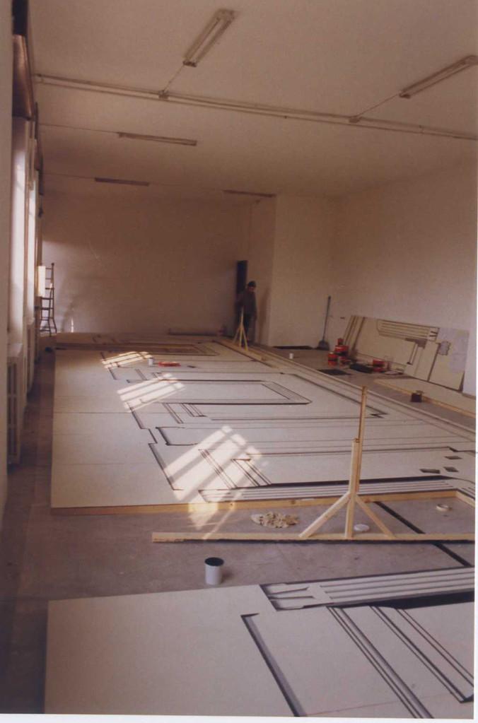 Fondale GFF dipinto riproduzione stucchi