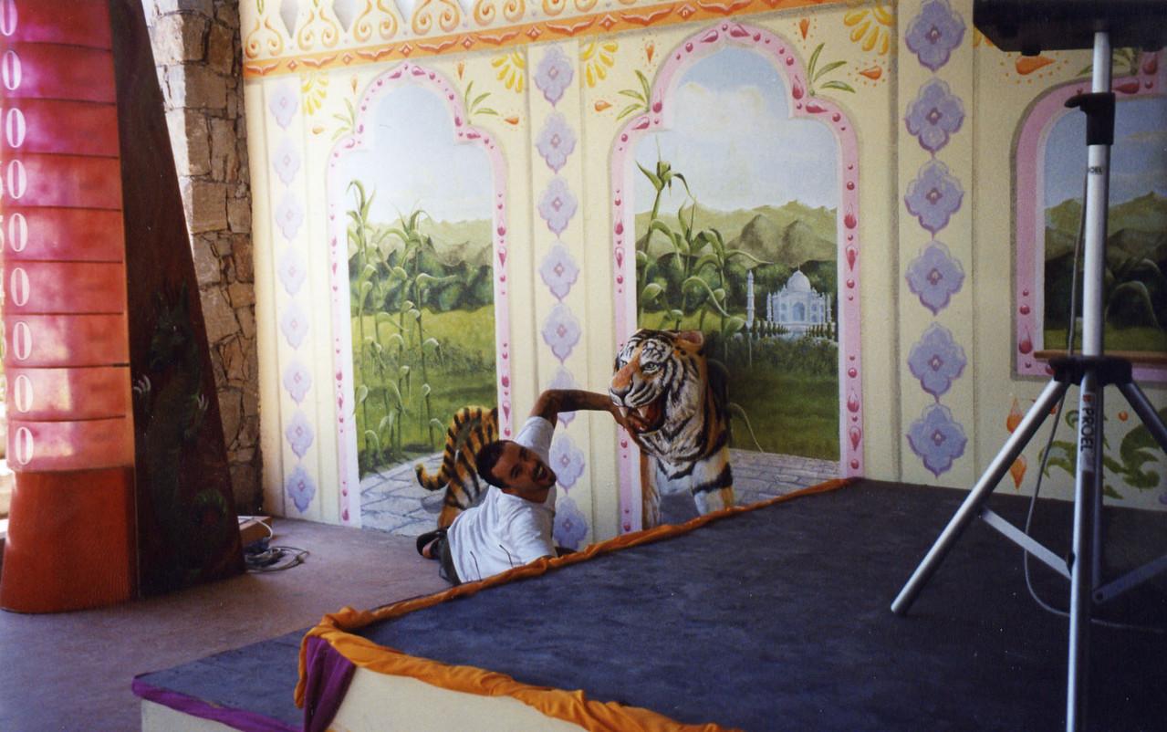 La discoteca in stile indiano con tigre 3D