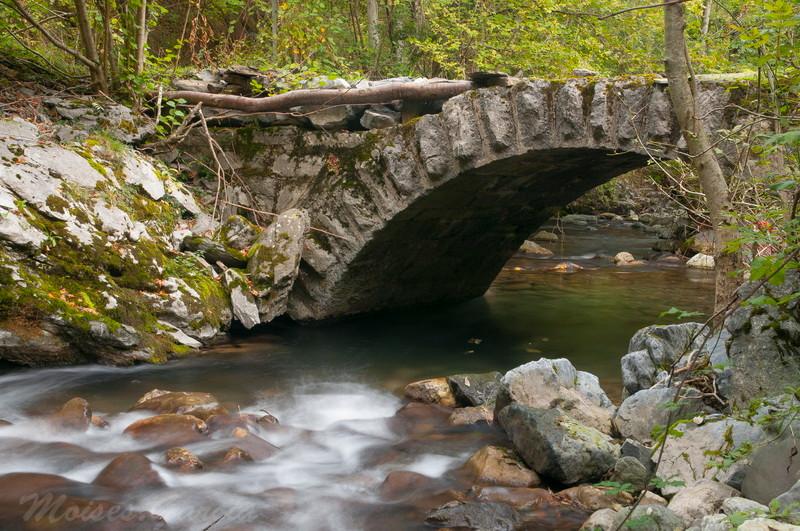 Puente en el camino antiguo a RioAller