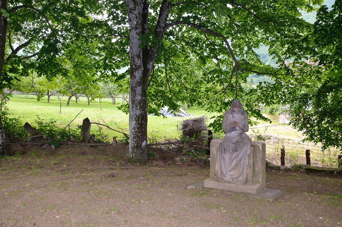 Estatua en la iglesia de pino