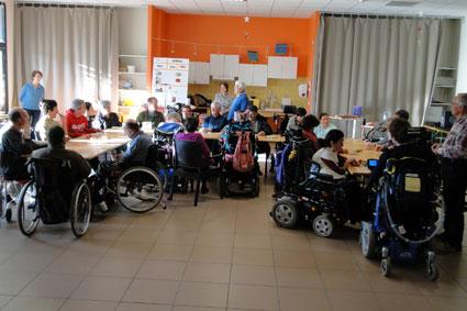 Visites et animations auprès de personnes handicapées