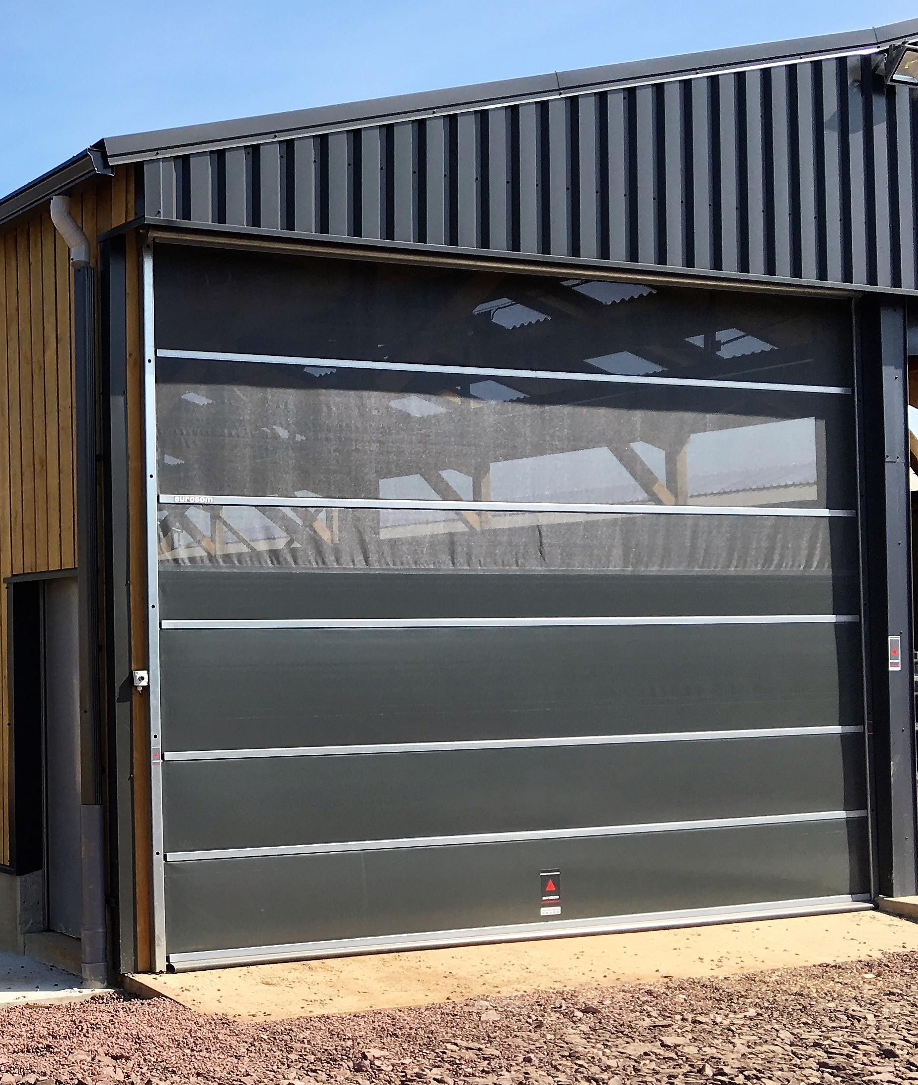nos produits eurosom portes enroulables et rideaux techniques de ventilation - Rideau Coupe Vent Agricole