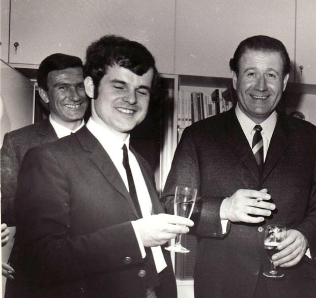 Mit Hans-Joachim (Kuli) Kulenkampff 1970 (Foto RBD)