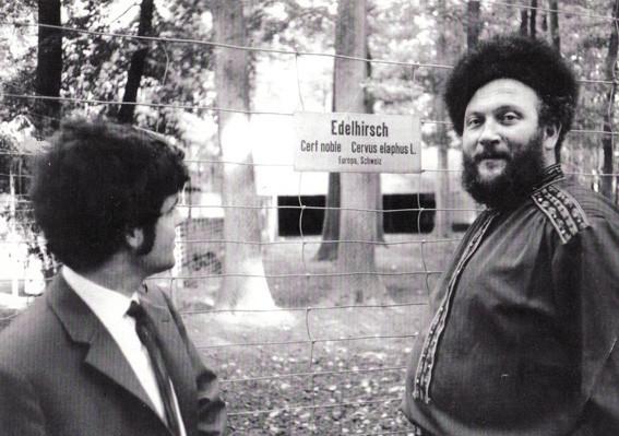 MIt Iwan Rebroff im Dählhölzli Bern, ca. 1969 (Foto RBD)