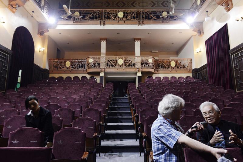 Hanoi, Auditorium der alten med. Fakultät (Foto R.Schmid)