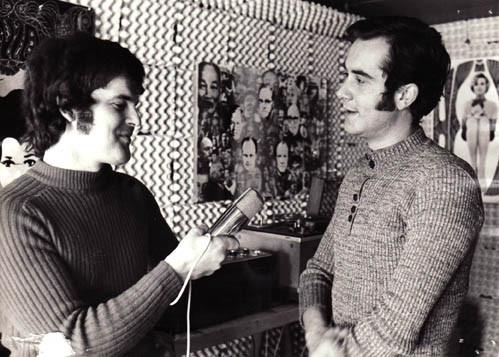 Als Tele-Redaktor mit Kurt Felix ca. 1969 (Foto RBD)
