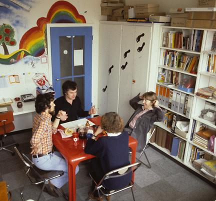Als Chefredaktor der schweizer jugend (mit Adrian Spiegel, Annemarie Manz-Wildeisen, Evi Affolter) ca. 1977