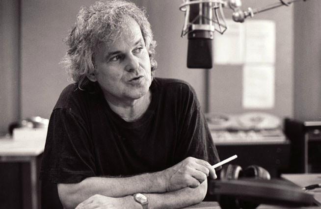 Am Mikrofon von Schweizer Radio DRS, 1999 (Foto Toni Baggenstos)