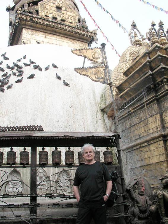 Im Swayambhunat-Tempel in Kathmandu (Foto Ruth Wäfler)