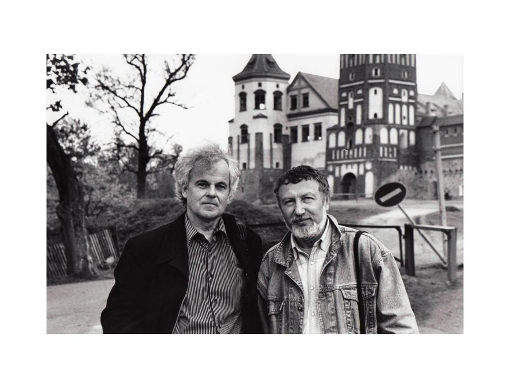 Mit dem weissrussischen Schriftsteller Semjon Buktschin in Belarus (Foto Hugo Jaeggi)