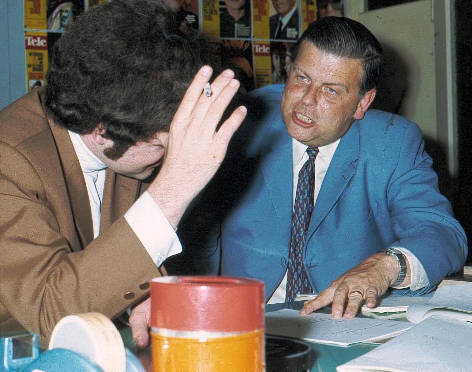 Als Tele-Redaktor mit Wysel Gyr ca. 1969 (Foto RBD)