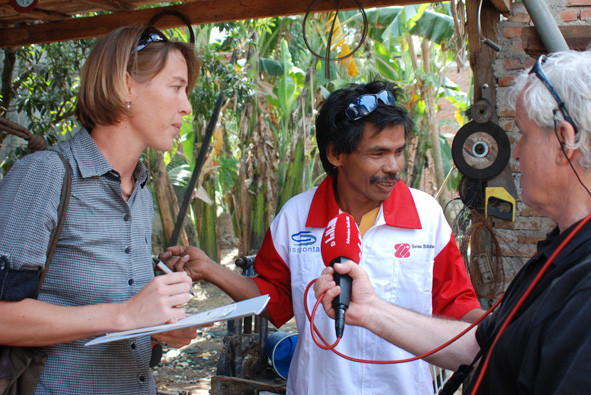 Interviews 2009 in Banda Aceh (Foto Roland Jeanneret)