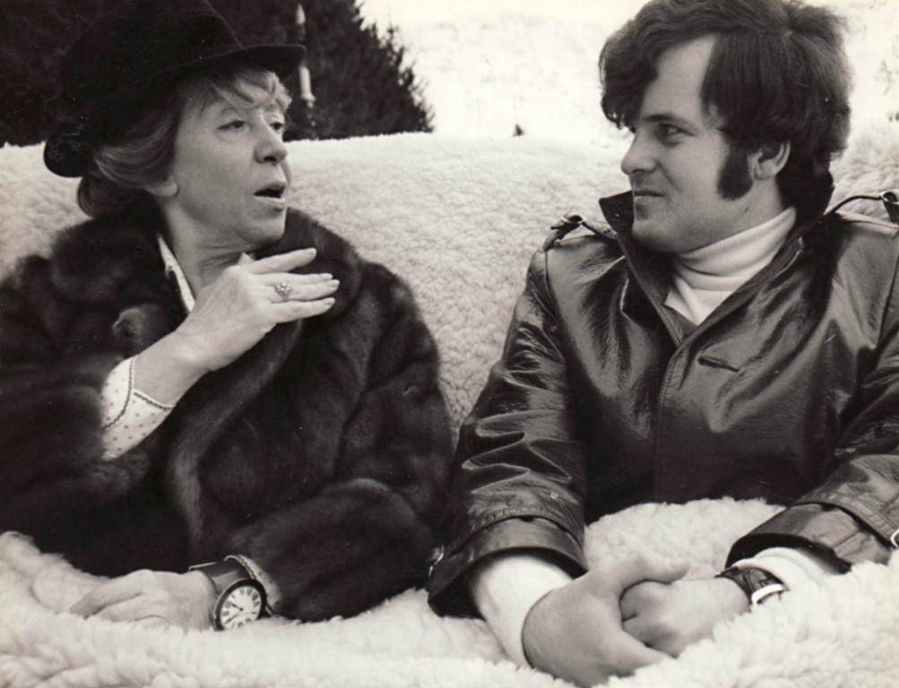 Mit der Schauspielerin Inge Meysel 1970 (Foto RBD)