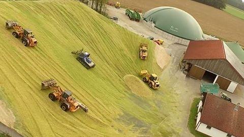 Maissilo für eine Biogasanlage, Bildquelle: www.imgrum.net