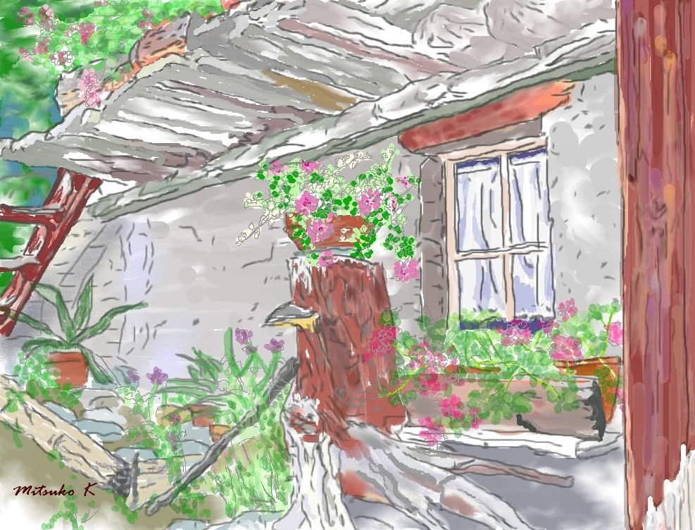 ミューレン村の窓辺
