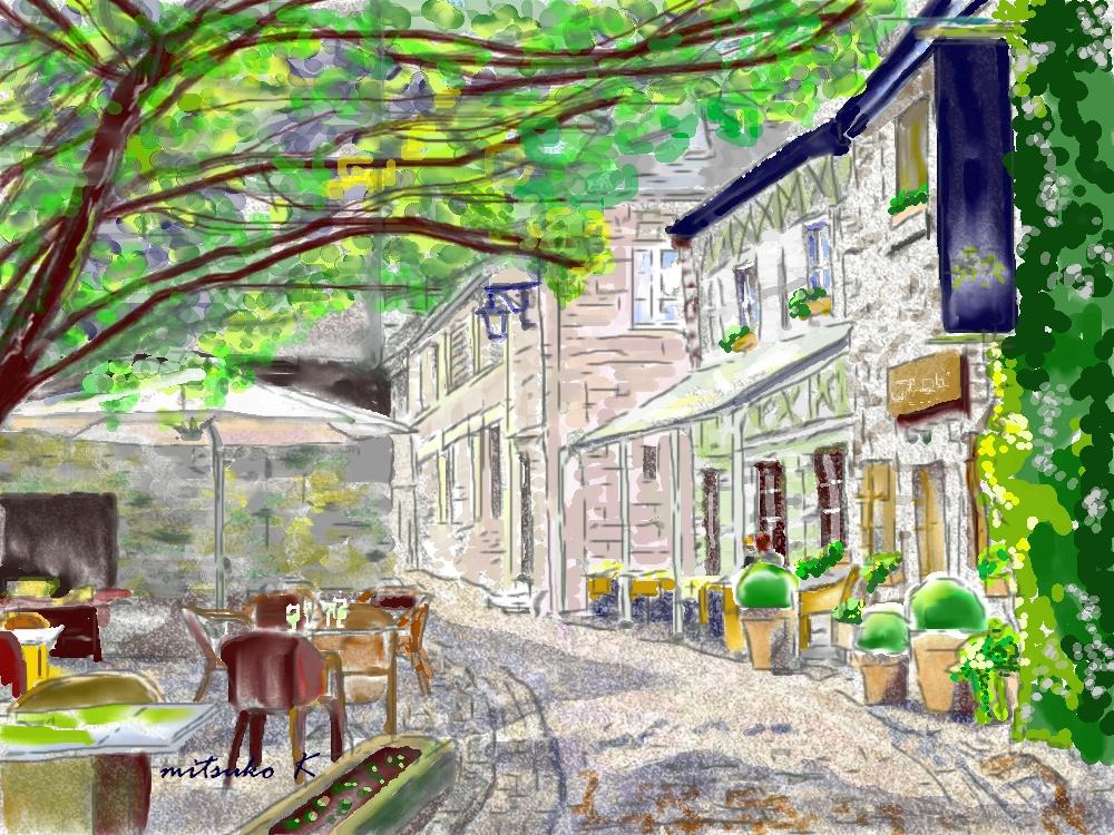 ベルギーデュルブイのカフェテラス