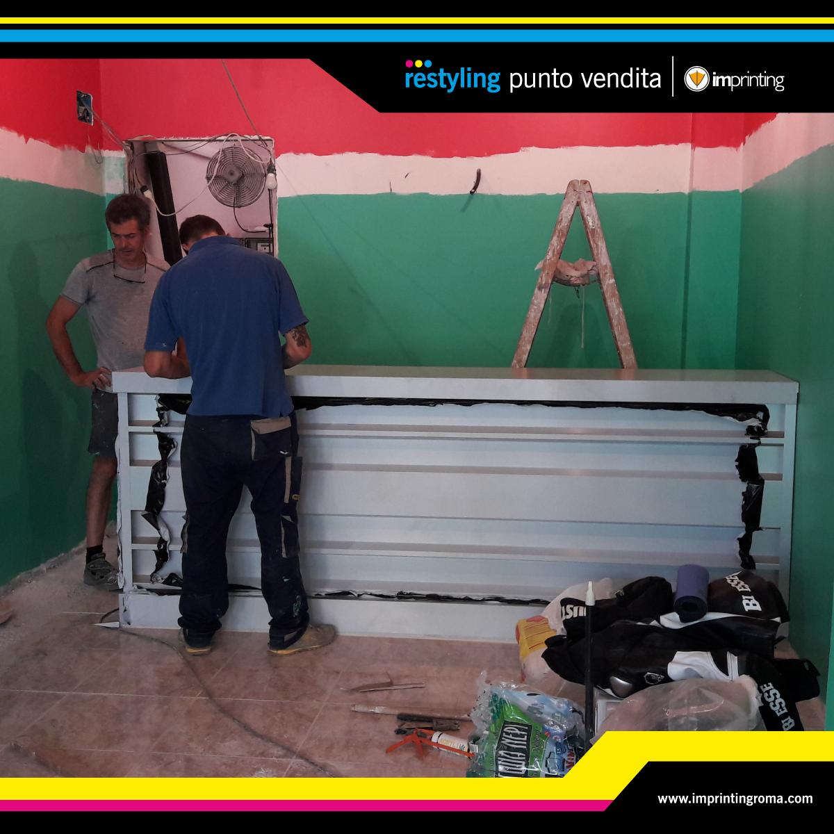 Ristrutturazione negozio ad Ostia - Durante i lavori