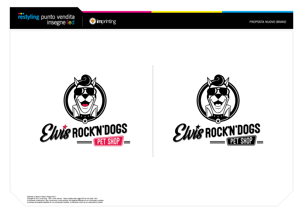 Imprinting Ostia - Studio del marchio Elvis Rock'n'Dogs