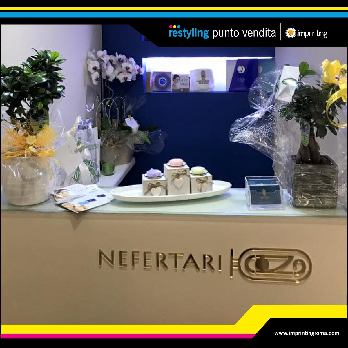 Personalizzazione interni negozio - Nefertari Centro Estetico