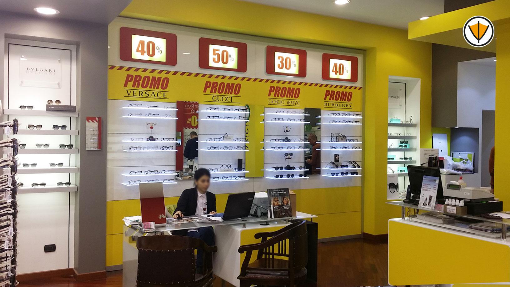 Personalizzazione negozio di ottica Visionè - Dopo