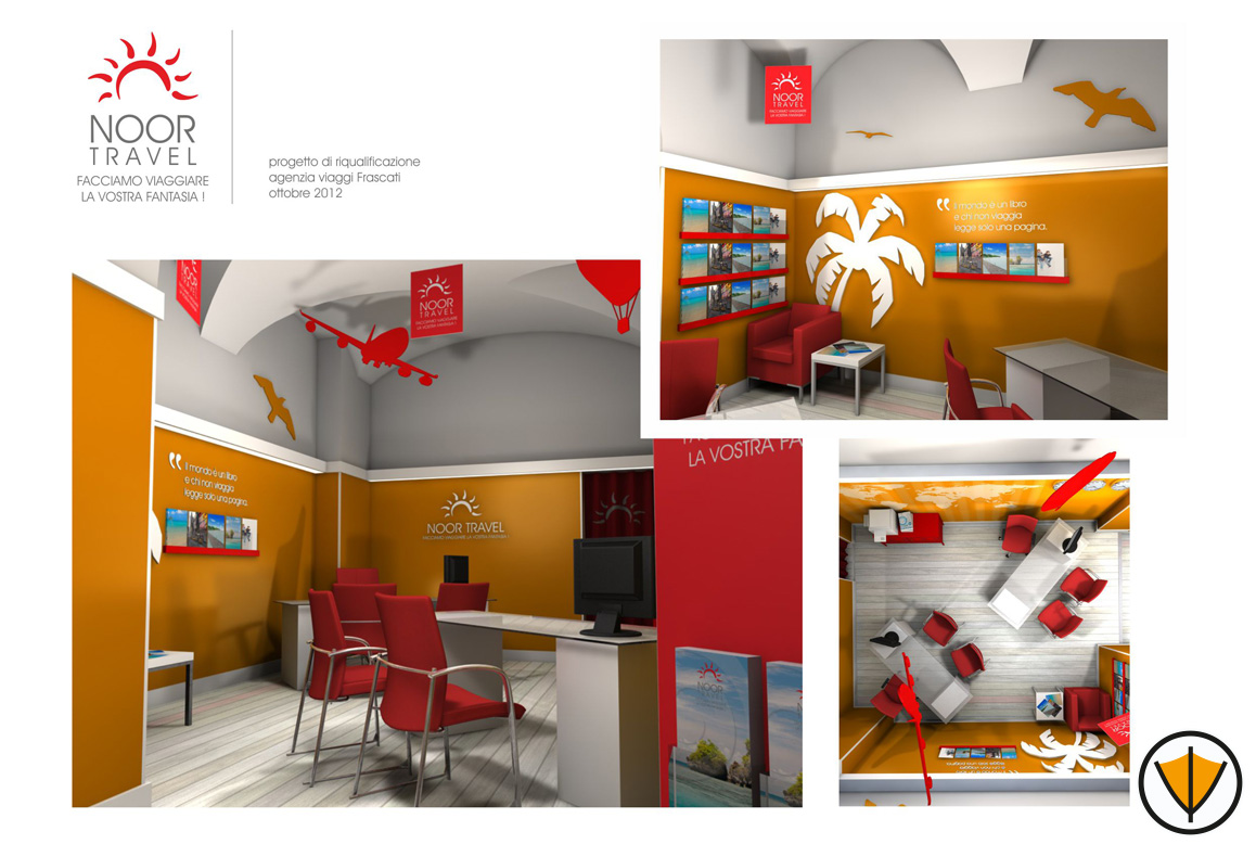 Restyling punto vendita - Ristrutturazione degli interni agenzia di viaggi