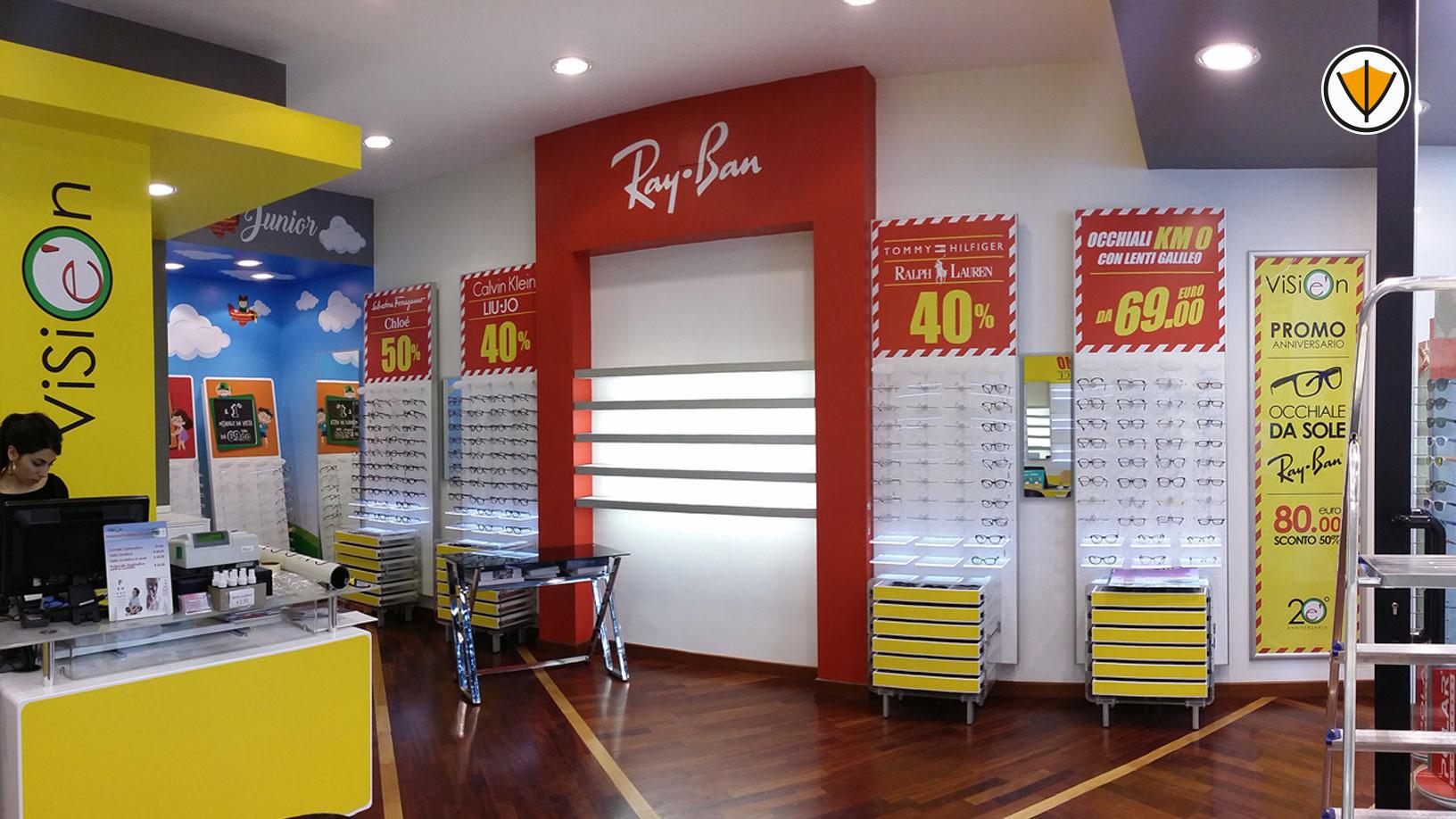Restyling negozio di ottica Visionè - Dopo