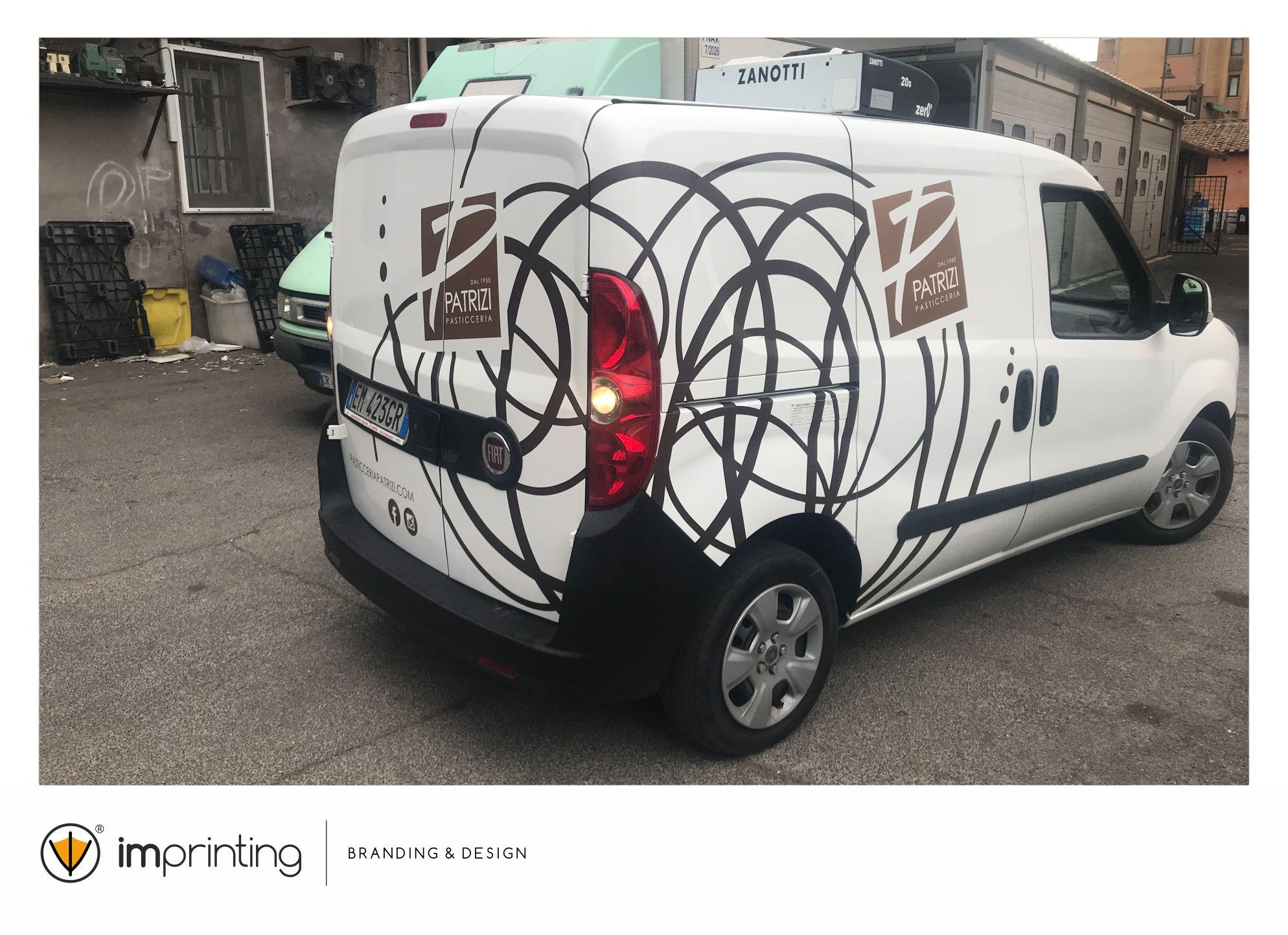 Patrizi Pasticceria - Wrapping automezzo IMPRINTING Fiumicino