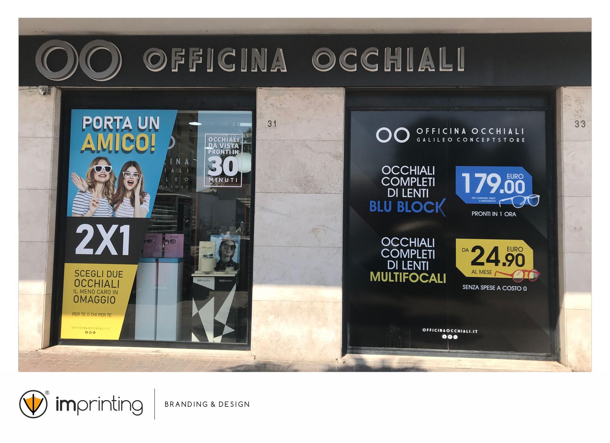 Officina Occhiali  - vetrofanie IMPRINTING Ostia