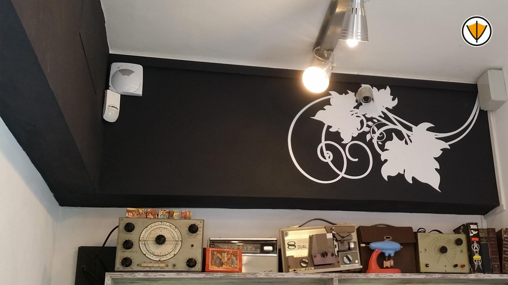 Decori murali adesivi per il bar 7° Gusto in Roma - Dopo