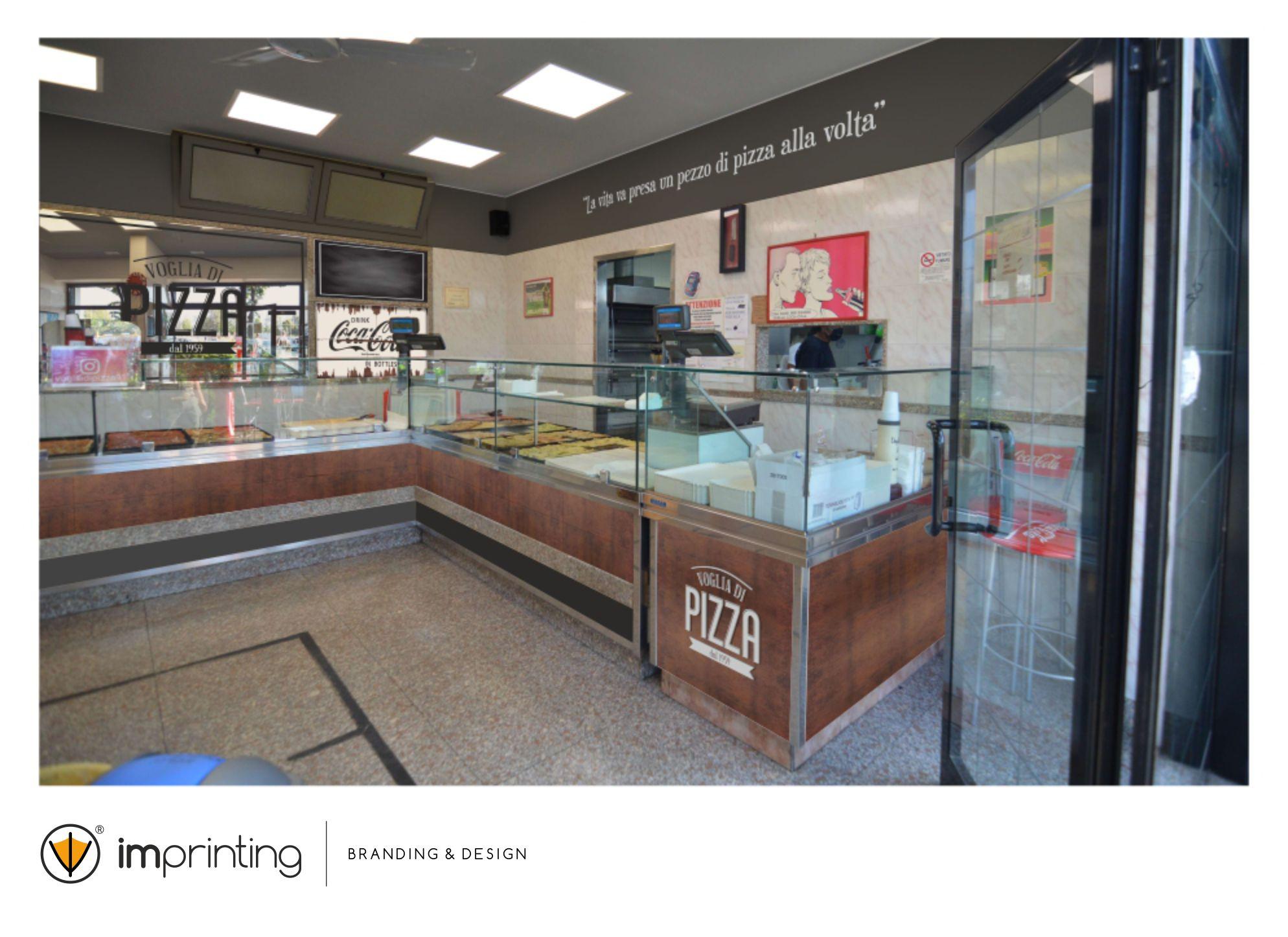 Pizzeria Voglia di Pizza - Restyling - IMPRINTING Acilia