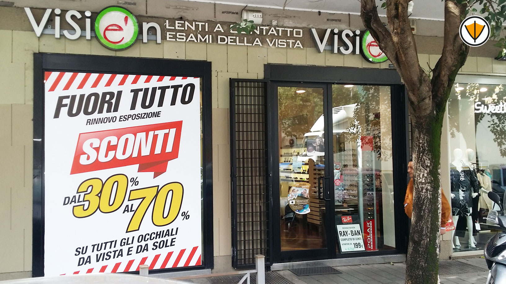 Insegna luminosa Visionè - Roma