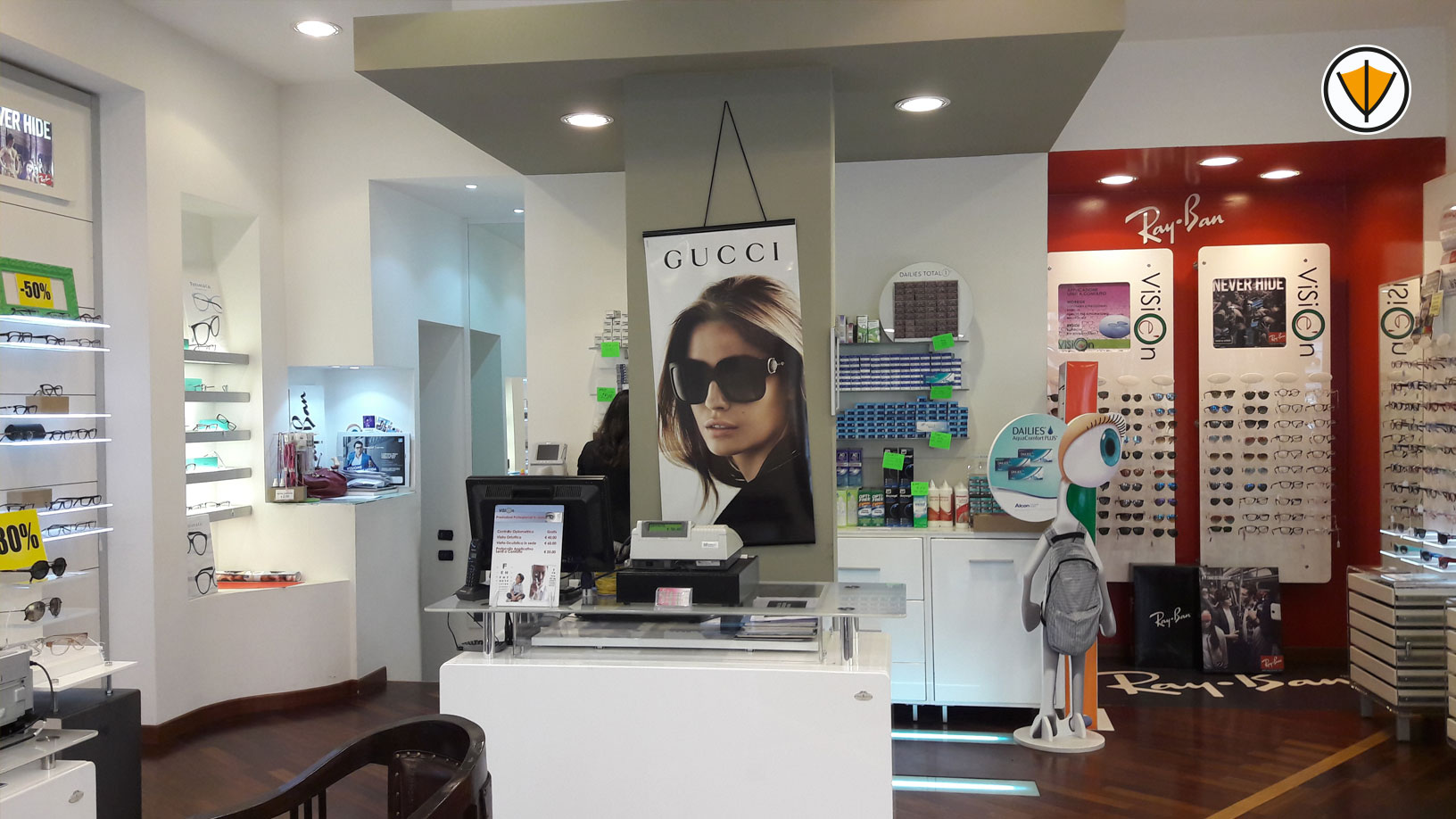 Restyling negozio di ottica Visionè - Prima