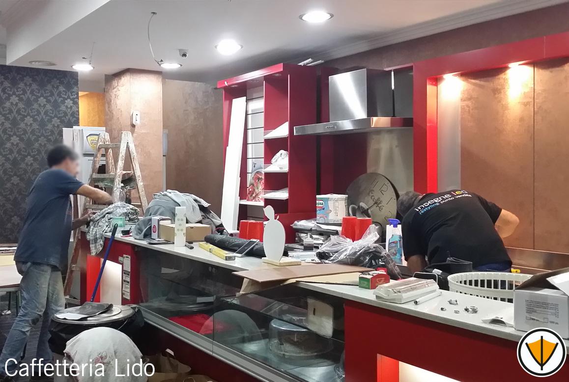 Ristrutturazione bar Caffetteria Lido - Prima
