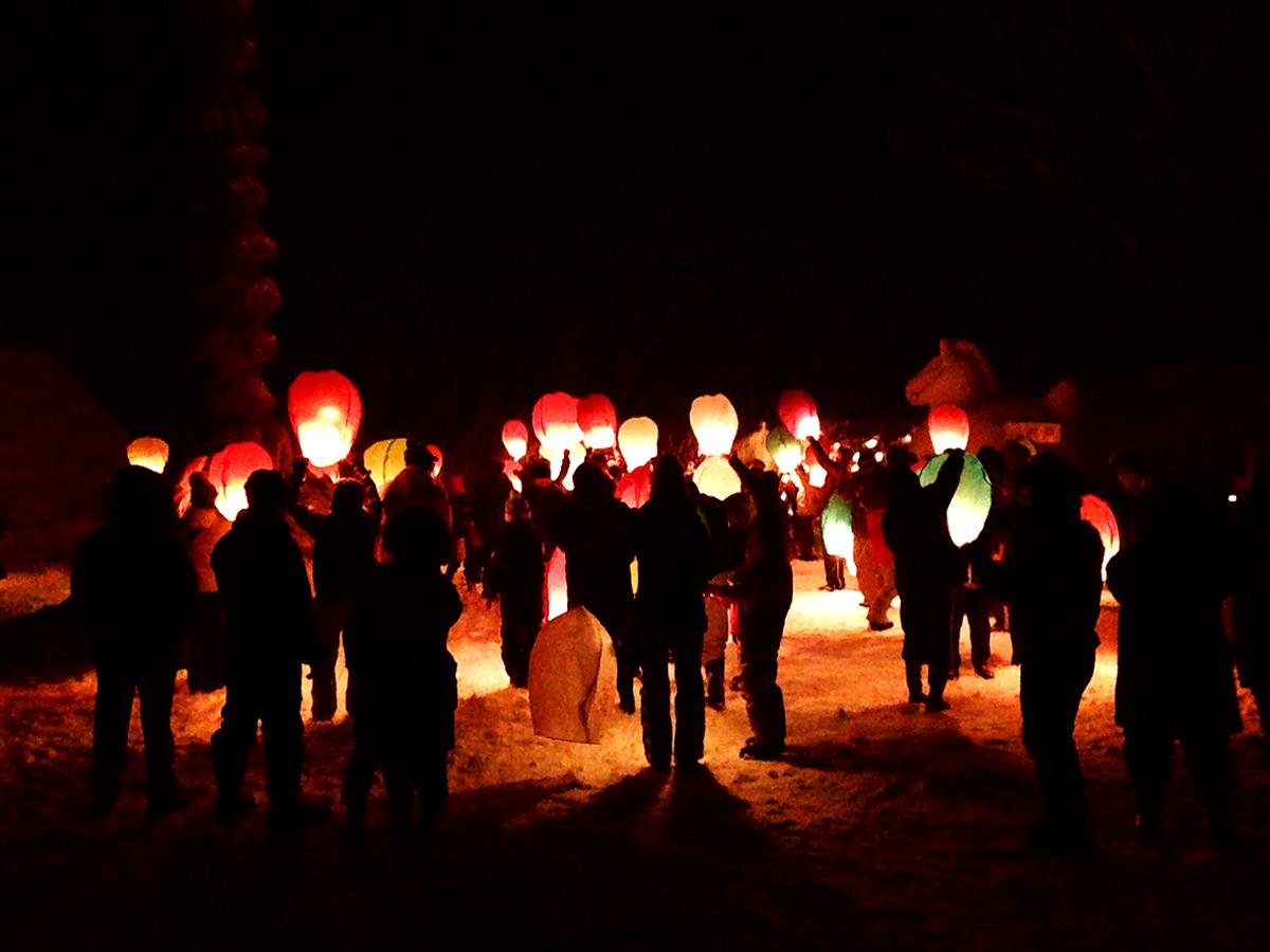 2月 中津川雪祭り スカイランタン