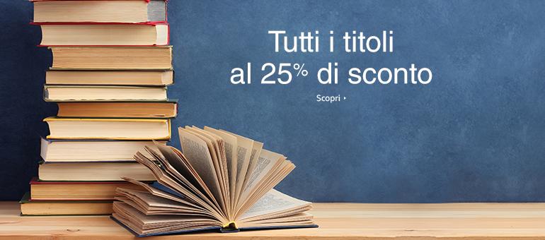Libri al 25% di sconto