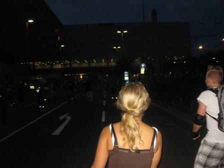 Rollnacht Düsseldorf Rheinufertunnel