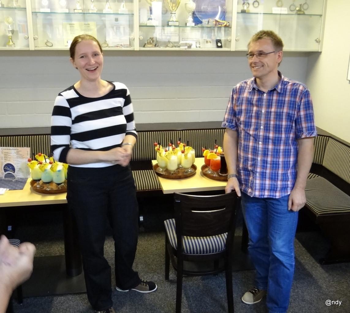 Wir gratulieren Cathleen& Holger - Danke für den super Cocktail