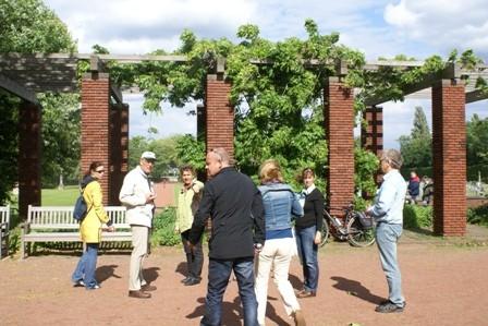 Nordpark Düsseldorf Boule spielen