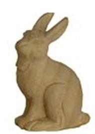 Bild Krippenfigur Hase linksschauend handgeschnitzt aus Zirbenholz