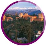 Granada - Blick auf die Alhambra